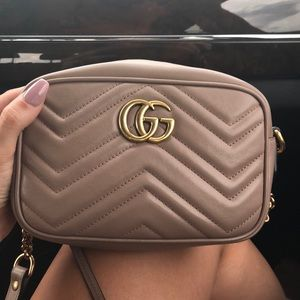Gucci Marmont Porcelain Rose crossbody